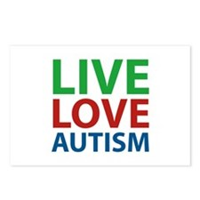 Live Love Autism Postcards (Package of 8)