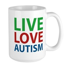 Live Love Autism Ceramic Mugs