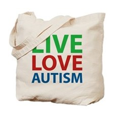 Live Love Autism Tote Bag