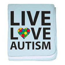 Live Love Autism baby blanket