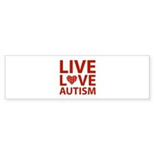 Live Love Autism Bumper Sticker