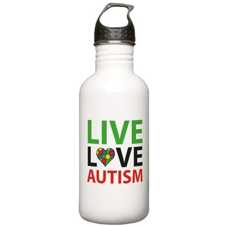 Live Love Autism Stainless Water Bottle 1.0L