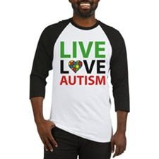 Live Love Autism Baseball Jersey