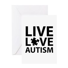Live Love Autism Greeting Card