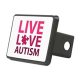 Live Love Autism Rectangular Hitch Cover