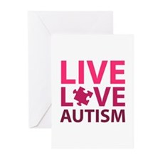 Live Love Autism Greeting Cards (Pk of 20)