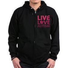 Live Love Autism Zip Hoodie