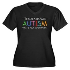 I Teach Kids With Autism Women's Plus Size V-Neck