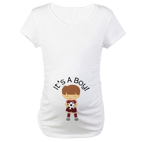 Its A Boy Soccer Kid Maternity T-Shirt