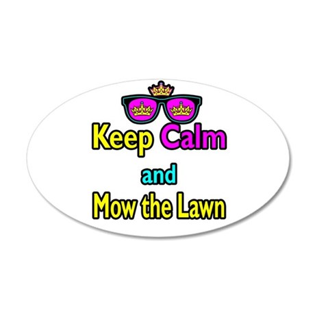 Crown Sunglasses Keep Calm And Mow The Law 20x12 O