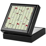 Hole in One Golf Equipment on Plaid Keepsake Box