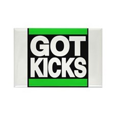 got kicks lg green Rectangle Magnet
