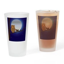 Owl Moonlight Drinking Glass