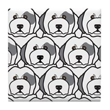 Old English Sheepdogs Tile Coaster