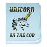 Unicorn On The Cob Corn Funny T-Shirt baby blanket