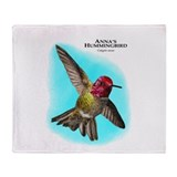 Anna;s Hummingbird Throw Blanket
