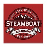Steamboat Red Tile Coaster