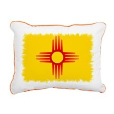 Zia Sun Symbol Rectangular Canvas Pillow