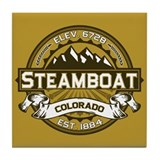 Steamboat Tan Tile Coaster