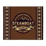 Steamboat Sepia Throw Blanket