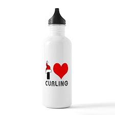 I Love Curling Water Bottle
