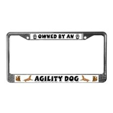 Agility Dog License Plate Frame