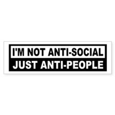 Anti-Social Anti-People Bumper Bumper Sticker