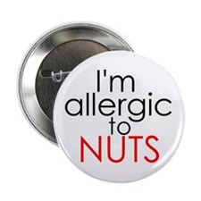 "Allergic to nuts 2.25"" Button (10 pack)"