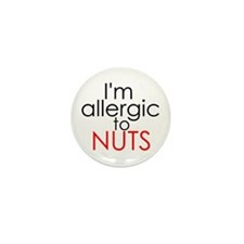 Allergic to nuts Mini Button (100 pack)