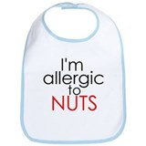 Allergic to nuts Bib