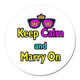 Crown Sunglasses Keep Calm And Marry On Round Car