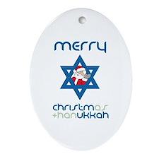 Christ()mukkah Oval Ornament