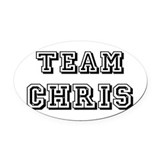 Team Chris blk.png Oval Car Magnet