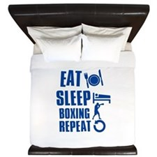 Eat sleep Boxing King Duvet