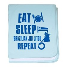Eat sleep Brazilian Jiu Jitsu baby blanket
