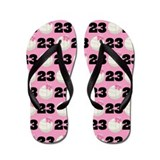 Volleyball Player Number 23 Flip Flops