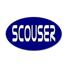Scouser White on Blue Wall Decal