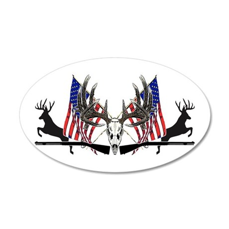 Patriotic Whitetail black powder Wall Decal