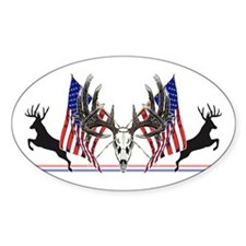 Patriotic Whitetail buck Decal