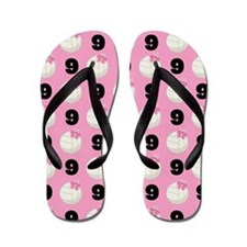 Volleyball Player Number 9 Flip Flops