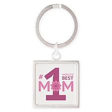 Nr 1 Mom Square Keychain