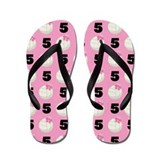 Volleyball Player Number 5 Flip Flops