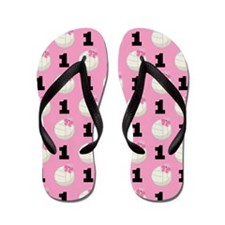 Volleyball Player Number 1 Flip Flops