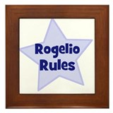 Rogelio Rules Framed Tile