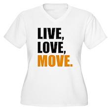 live love move Plus Size T-Shirt