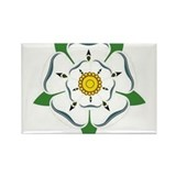 Yorkshire Rose Rectangle Magnet