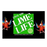 Livin' the Lime Life Logo Postcards (Package of 8)