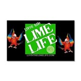 Livin' the Lime Life Logo Car Magnet 20 x 12