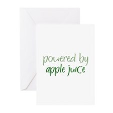 Powered By apple juice Greeting Cards (Package of