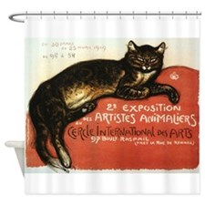 Cat, Steinlen, Vintage Poster Shower Curtain